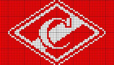 Схема вышивка крестом эмблема спартака