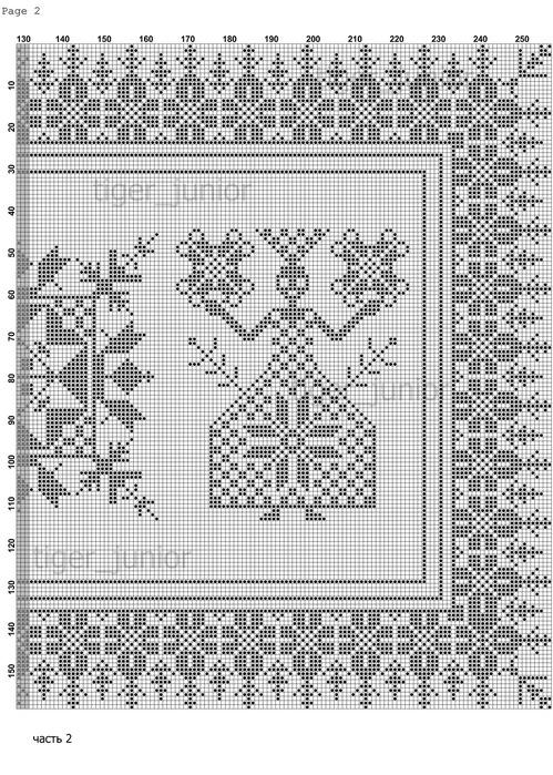 Часть 1 - Схемы вышивки по
