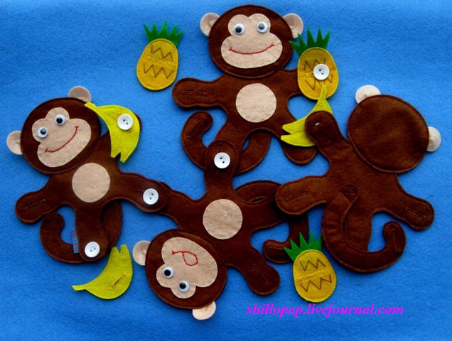 Украшение для маленькой еРамка для Объемные обезьянки