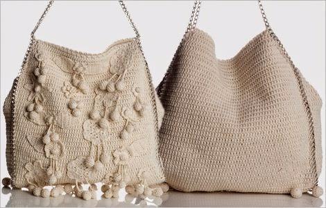 """欣赏:""""夏季的钩针编织袋"""" - maomao - 我随心动"""