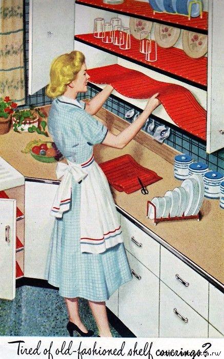 Винтажные картинки для творчества. Домохозяйки (3) (437x700, 242Kb)