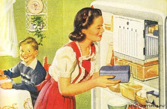Винтажные картинки для творчества. Домохозяйки (23) (550x359, 214Kb)