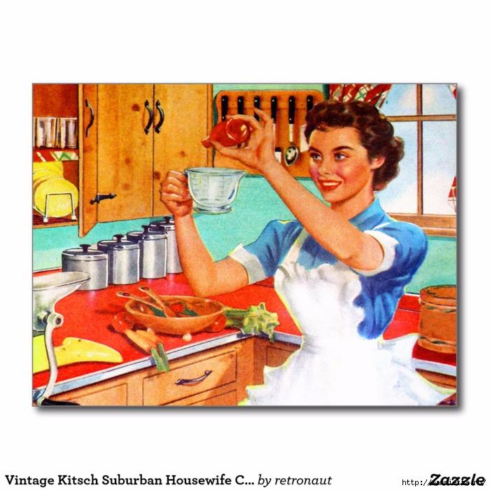 Винтажные картинки для творчества. Домохозяйки (37) (700x700, 313Kb)