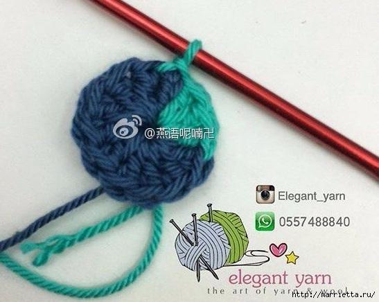 Вяжем крючком перо павлина (5) (547x436, 145Kb)