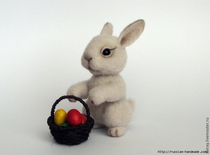 Пасхальный кролик в технике валяние. Мастер-класс (700x516, 184Kb)