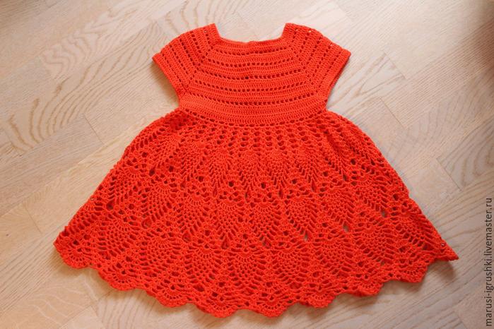 Вязание крючком платье ананасами для девочки крючком 53