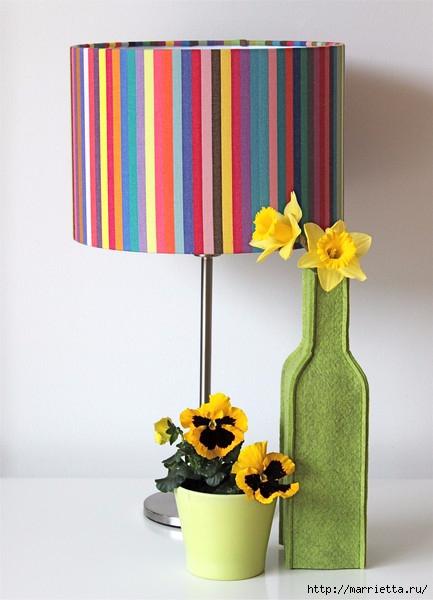 Войлочные вазы для цветов - чехлы на бутылки (3) (433x600, 142Kb)