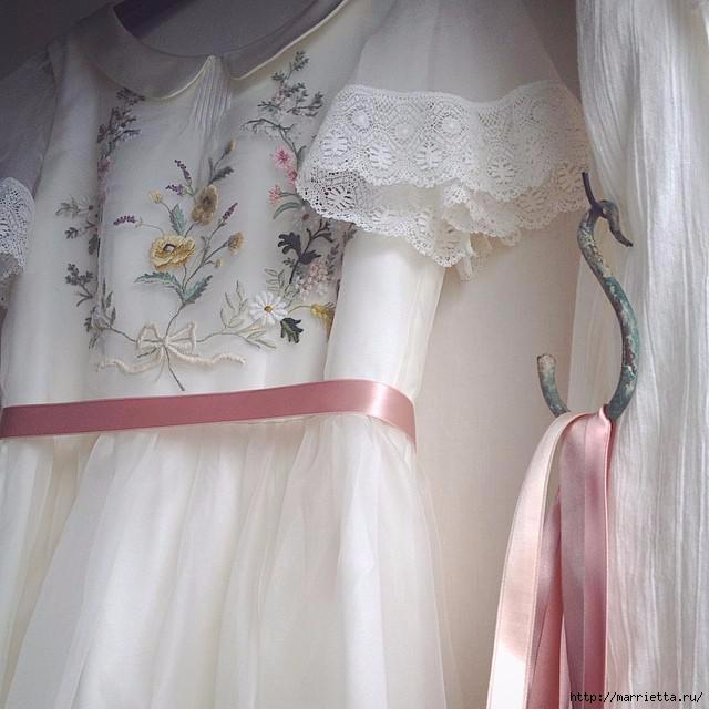Свадебное платье с вышивкой. Нежная идея (1) (640x640, 154Kb)