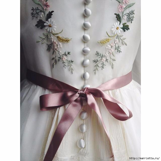 Свадебное платье с вышивкой. Нежная идея (3) (640x640, 125Kb)