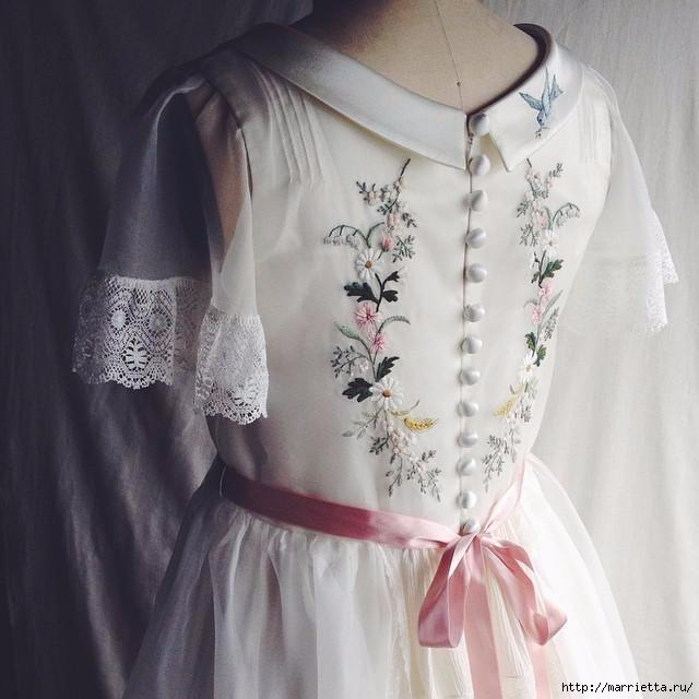 Свадебное платье с вышивкой. Нежная идея (5) (640x640, 148Kb)