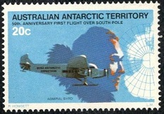 YtAQ 35, Admiral Byrd, Floyd Bennett Tri Motor, and Map of South Pole (232x162, 29Kb)