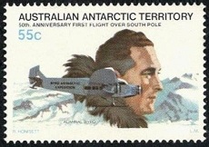 YtAQ 36 Admiral Byrd, Floyd Bennett Tri Motor, and Map of South Pole (230x162, 28Kb)