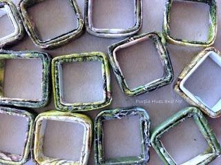 Gazete tüplerin Dekoratif sepet.  MK (4) (320x240, 105KB)