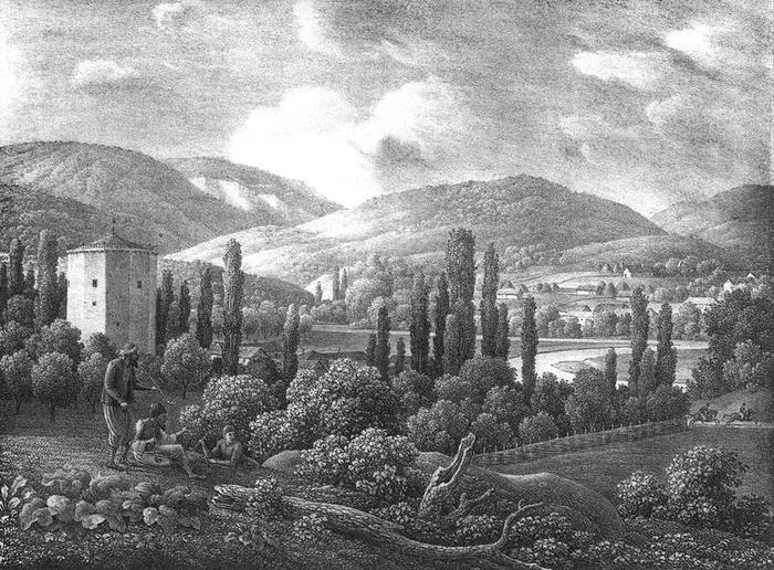 Чоргунь. Литография К. Кюгельхена начала XIX века (700x516, 295Kb)