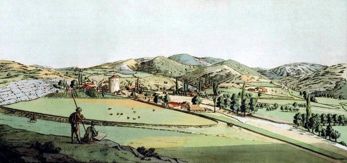чорггунь 2 К. Гейслер. Селение Чоргунь. 1801 год. (700x330, 269Kb)