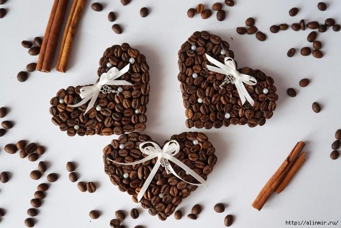 Магнитики из кофейных зерен своими руками