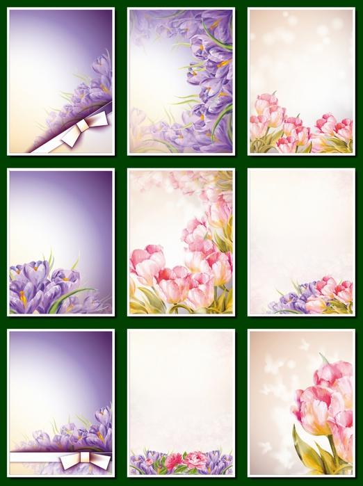 Фоны цветочные для оформления творческих работ, А4. 20  png. Часть 24.