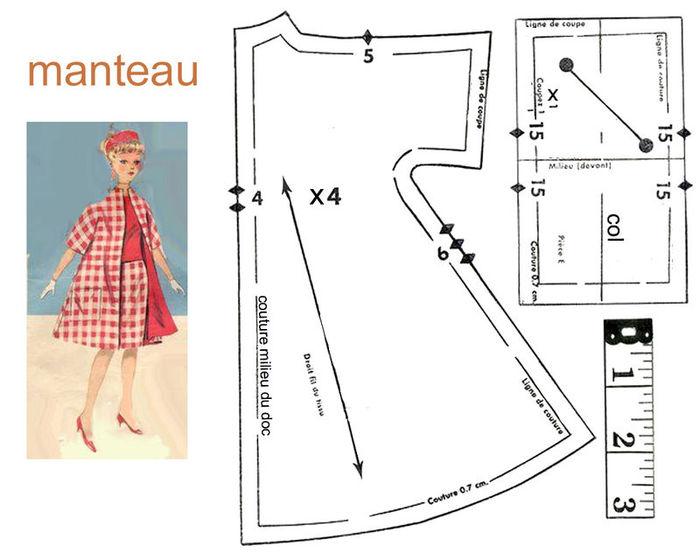 Выкройки платье для куклы