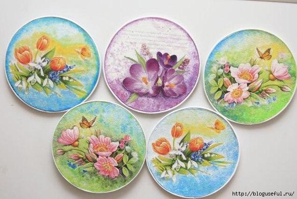 тарелочки из CD-дисков