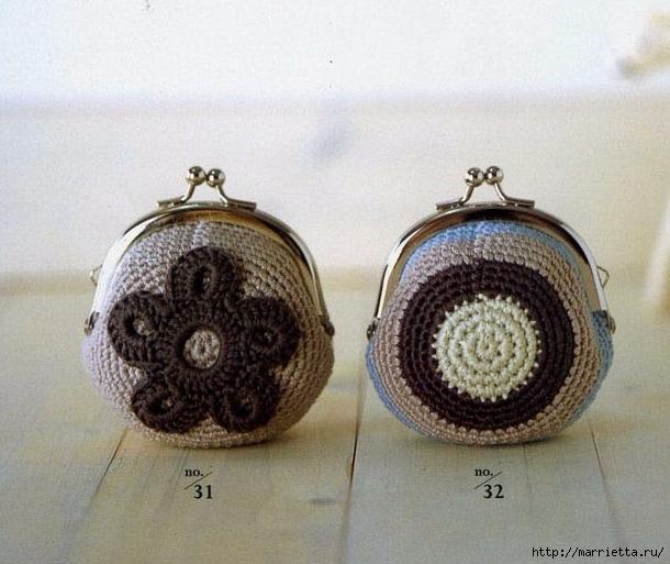 Кошельки крючком для фермуара. Схемы (1) (610x513, 193Kb)