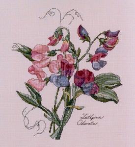 The Lilac Studio 20 Sweet Peas (275x300, 101Kb)