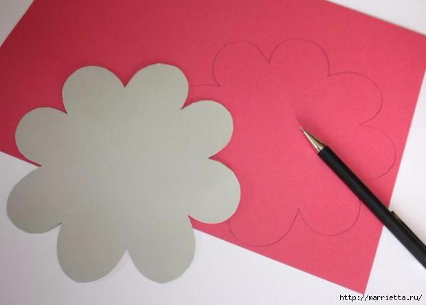 Корзинка из бумаги для пасхального яйца. Творчество с детьми (4) (620x443, 63Kb)