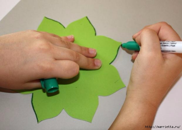 Корзинка из бумаги для пасхального яйца. Творчество с детьми (6) (620x443, 84Kb)