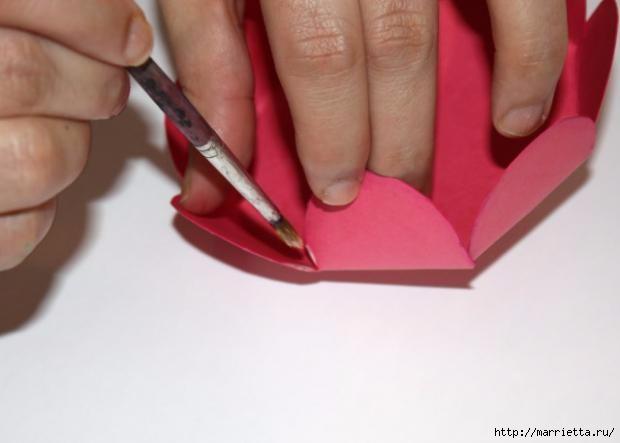 Корзинка из бумаги для пасхального яйца. Творчество с детьми (13) (620x443, 74Kb)