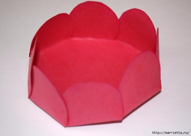 Корзинка из бумаги для пасхального яйца. Творчество с детьми (15) (620x443, 62Kb)