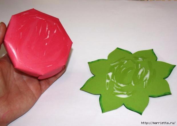 Корзинка из бумаги для пасхального яйца. Творчество с детьми (17) (620x443, 84Kb)