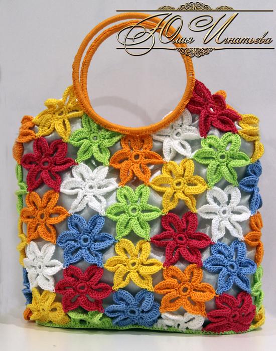 Вязание крючком.летние сумки