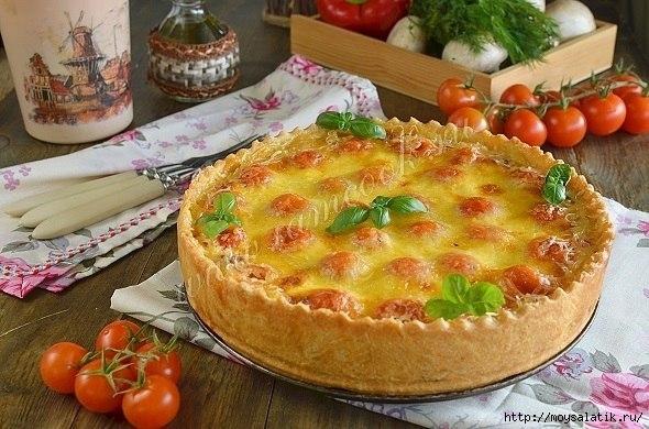 Киш открытый пирог рецепт с
