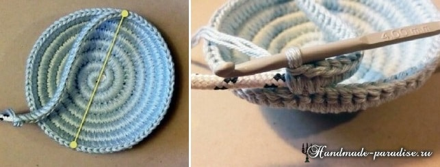 Вязанные корзины своими руками из веревки