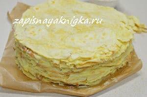 Тесто для торта наполеон