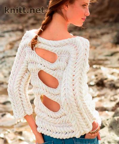 pulover-s-uzorom-iz-kos-s-vyrezami-na-spinke-e1461855361686 (400x484, 256Kb)