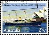 YtAU 821  Royal Yacht Britannia in front of Opera House, Sydney ���� ��������  ����������� �������� ������ 1983 HMY Britannia (159x112, 13Kb)
