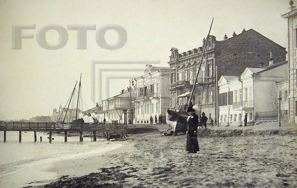 Коптев А. Набережная в приморском городе (Крым). 1910 -е (600x379, 221Kb)