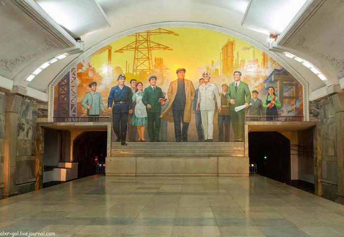 метро в пхеньяне фото 8 (700x482, 390Kb)