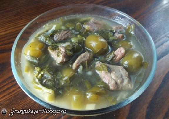 Чакапули из говядины по-грузински. Рецепт (4) (575x407, 201Kb)