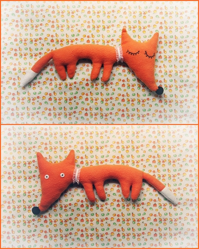 Мягкая лисичка своими руками