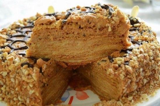 торт медовик рецепт с фото с заварным кремом