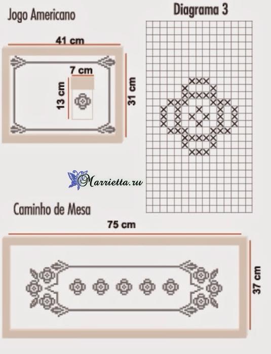 Сервировочные салфетки из пластиковой канвы с вышивкой (4) (535x700, 214Kb)