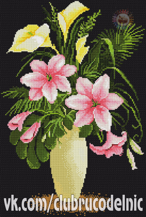 Цветы в вазе (472x700, 497Kb)