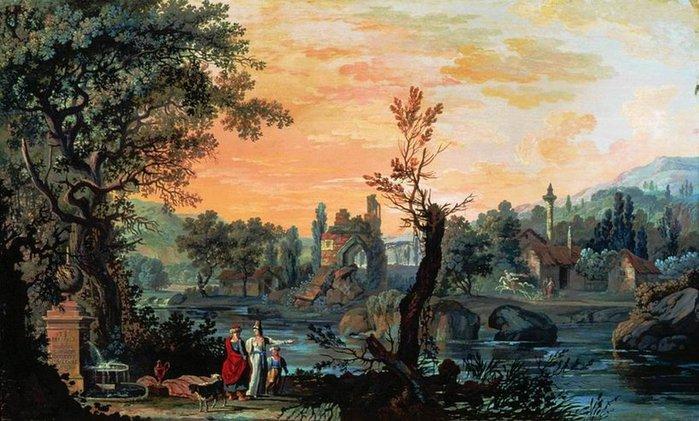 петров Вид Тавриды. 1791   ,Петров Василий Петрович (699x421, 317Kb)