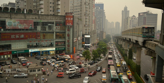 китайский город Чунцин фото 5 (700x356, 304Kb)