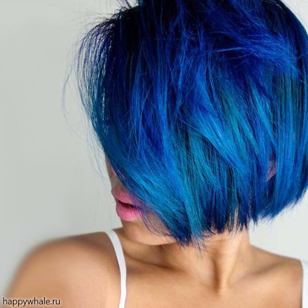 Краска для волос синяя купить в москве