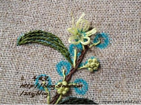 Объемная вышивка. Ромашки, одуванчики, хризантемы и мимоза (19) (460x345, 144Kb)