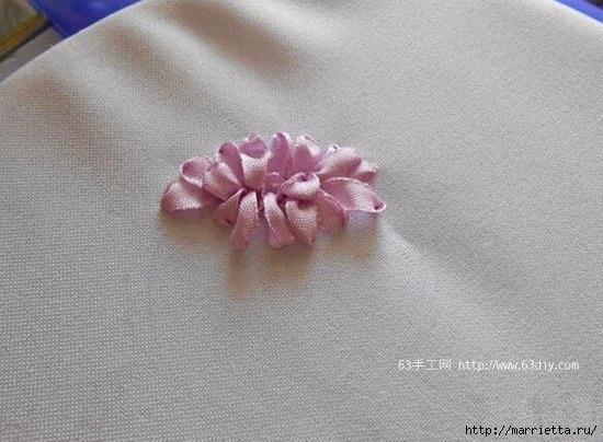 Объемная вышивка. Ромашки, одуванчики, хризантемы и мимоза (23) (550x404, 144Kb)