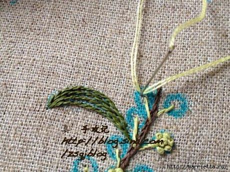 Объемная вышивка. Ромашки, одуванчики, хризантемы и мимоза (33) (460x345, 151Kb)