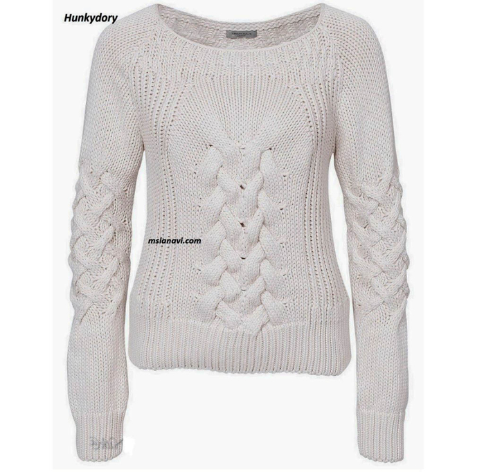 Вязаный-пуловер-спицами-от-Hunkydory-1024x998 (700x682, 315Kb)